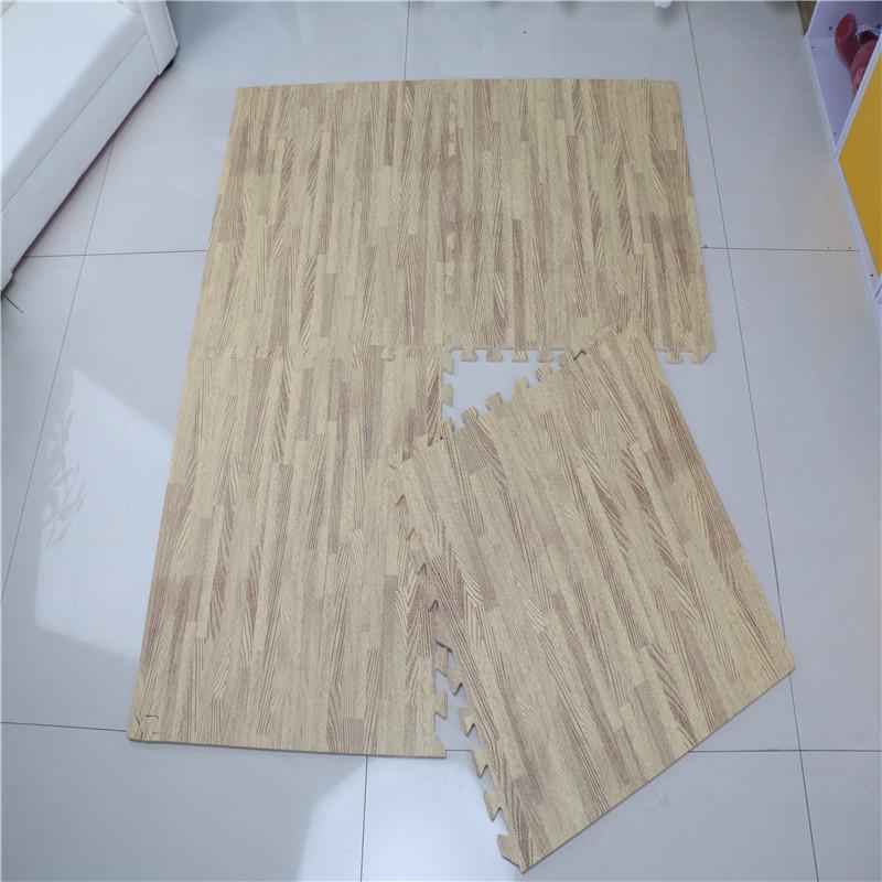 eva foam wood grain floor mat