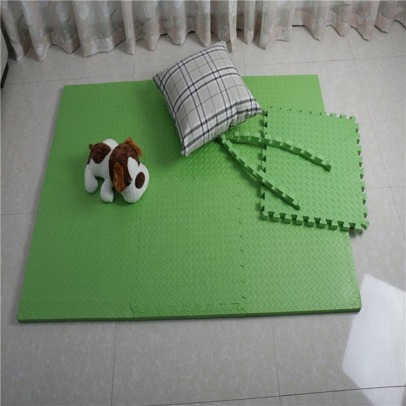 Floor Play Mat EVA Interlocking 10pk 11.5×11.5 Inches Assorted Soft Colors